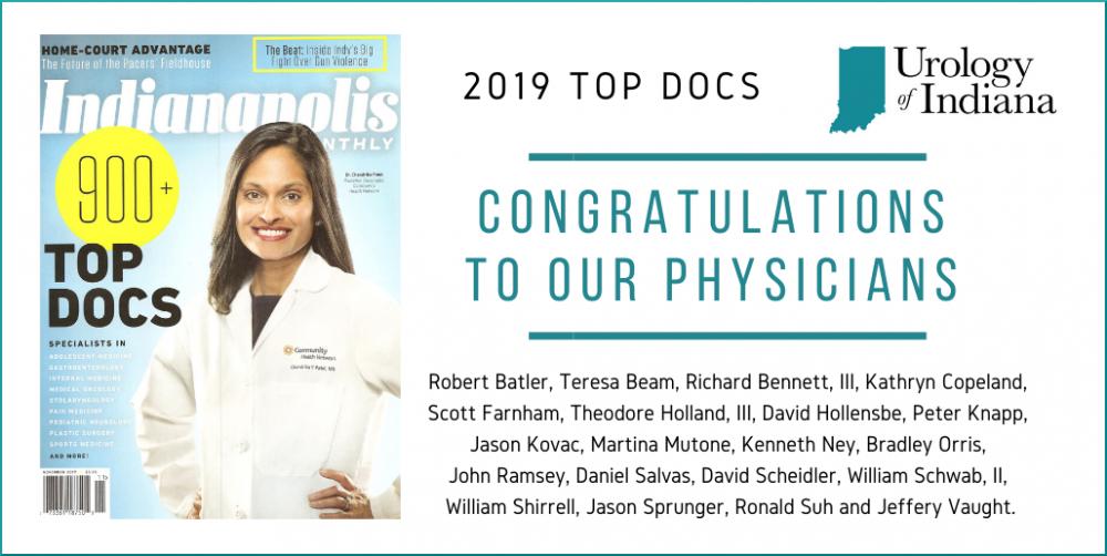 Urology of Indiana Top Doctors 2019
